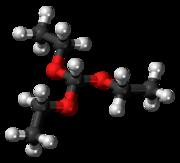 原甲酸三乙酯结构式-3D